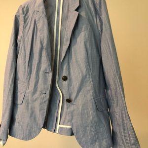 J.crew pinstripe blazer